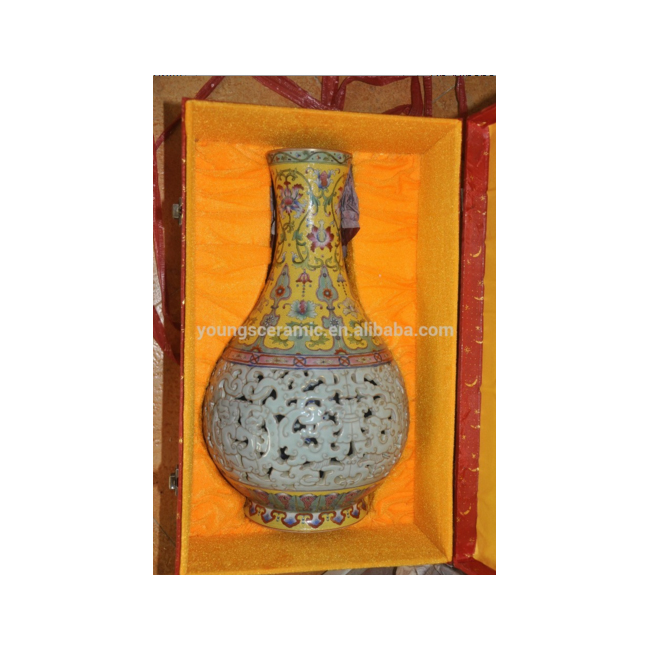 Chinese High Antique Replica Luxury Ceramic Heavy Famille Rose