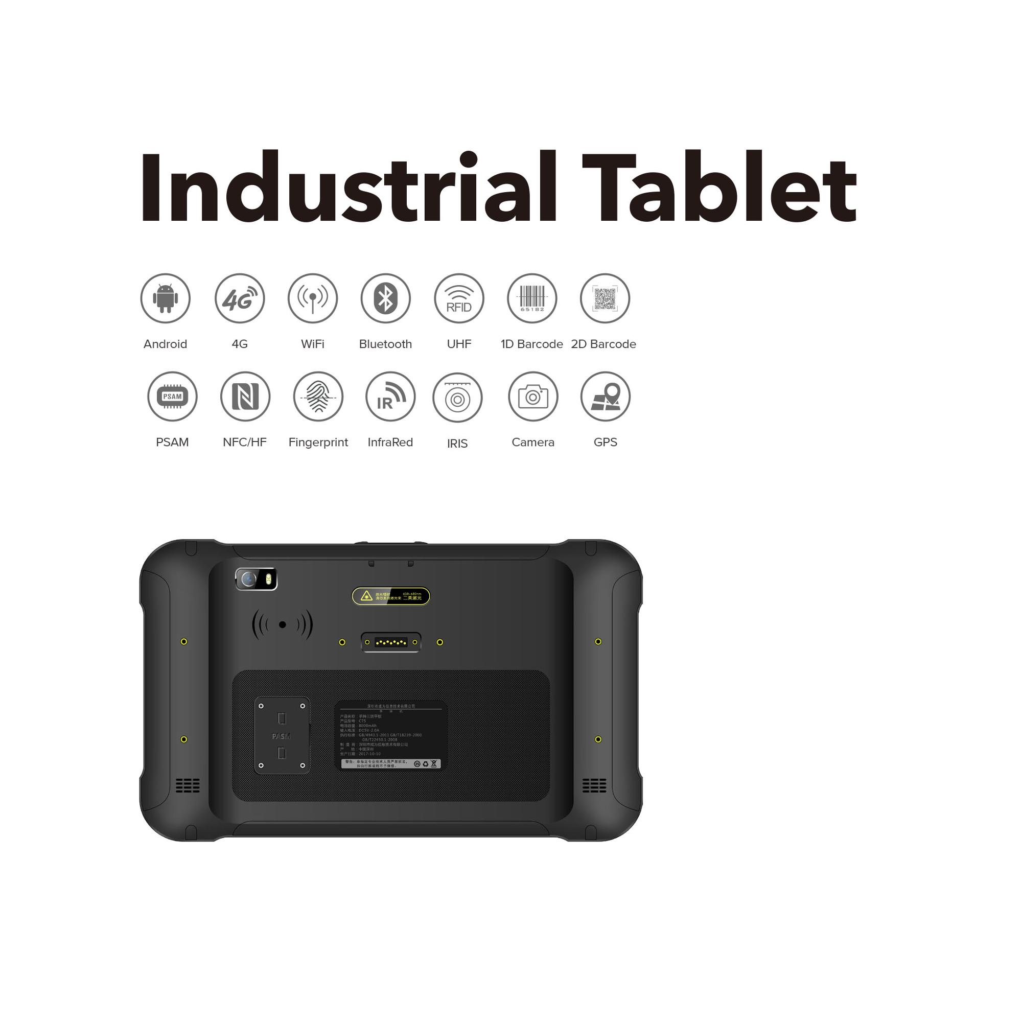 8 pollice IP65 Rugged Tablet Android PC, Impermeabile Android Tablet PC, Tablet Pc Industriale