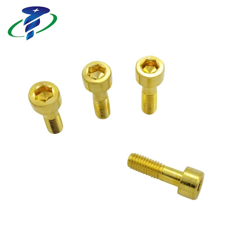 クリーニング/油を除去する Din912 真鍮ミシン糸キャップヘッド六角ネジ