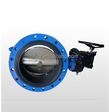 worm gear actuated exhaust jis 5k butterfly valve