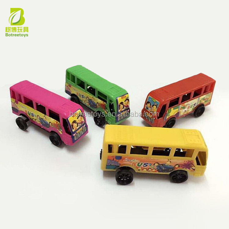 Promotional Bus Shaped Plastic Souvenir Promotional Toy for Kids