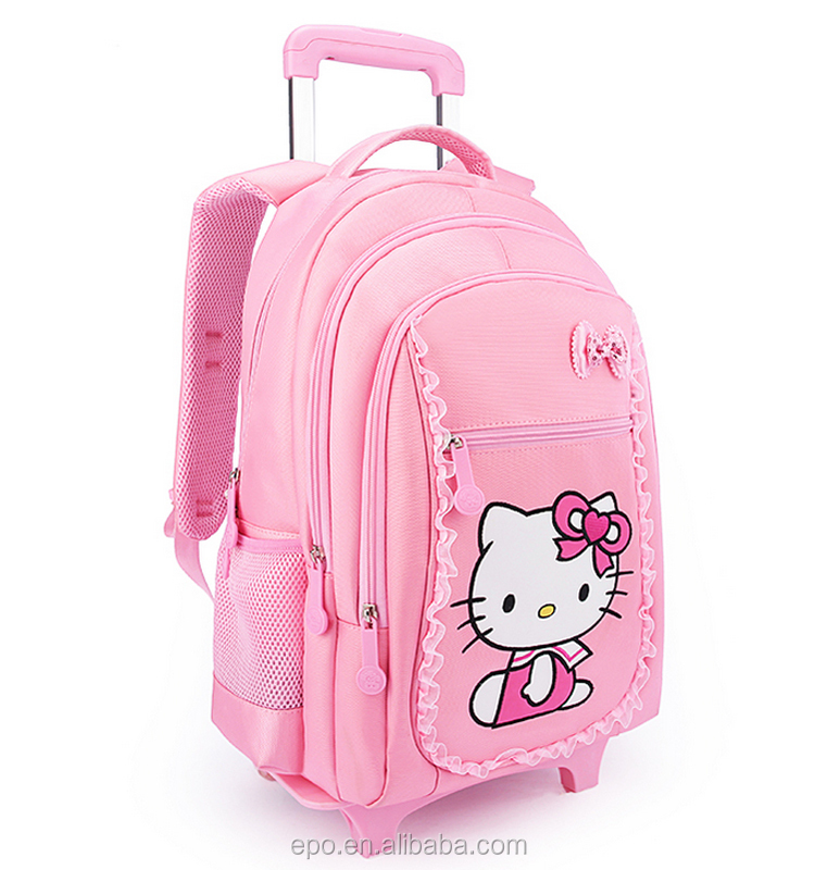 china manufacturer trolley hello kitty bags girls school
