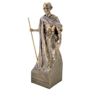 Factory Custom made best home decoration gift polyresin mahatma gandhi statue