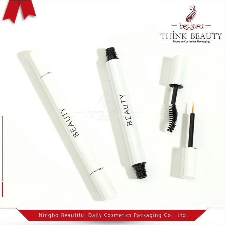 Novel style cosmetic packaging plastic double usage with lipstick liquid eyeliner container