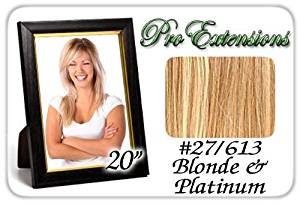 """Pro Extensions 20"""" #27/613 Golden Blonde w/ Platinum Highlights Premier Remy Human Hair Extensions by Pro Extensions"""