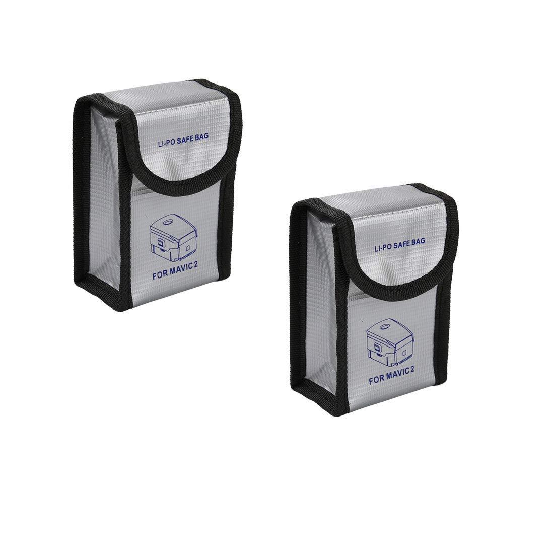 YIFAN 2PCS Lipo Battery Fireproof Explosionproof Bag for DJI Mavic 2 PRO/Mavic 2 Zoom, Accessories for DJI Mavic 2 Pro