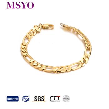 Msyo Brand Whole 18k Saudi Arabia Jewelry Gold Bracelet For Men Fashion New Designs