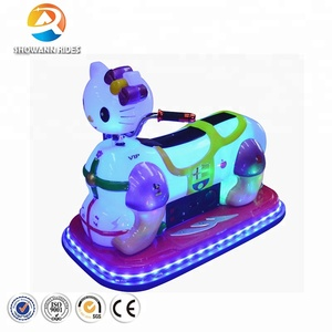 China supplier good price LED cat design kids electric bumper car dodgem cars funfair playground entertainment rides for sale