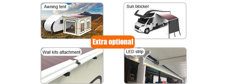 Switch Control Retractable Rv Aluminum Motorhome Caravan ...