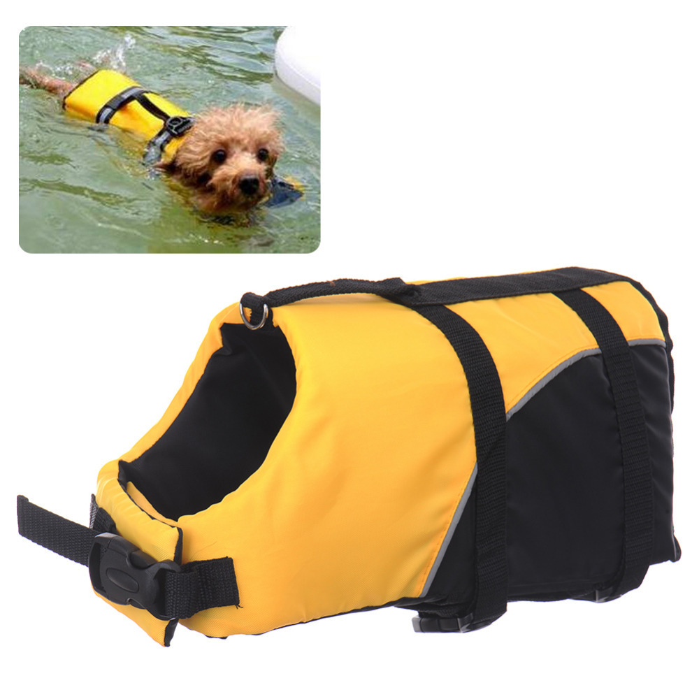 New Pet Dogs Swimming Life Jackets Three Sizes Dogs Safety Clothes High Quality pet dog products Free Shipping