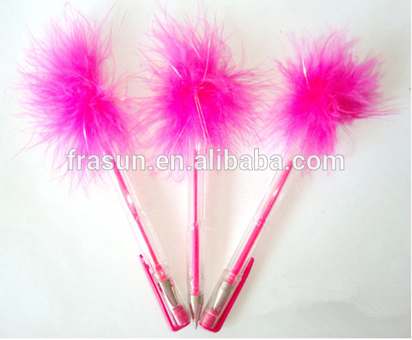 Kids Animal Novelty Pens With Feather,Fluffy Feather Pen