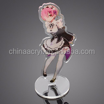 Cheap acrylic charm printed stand decoration custom acrylic stand anime