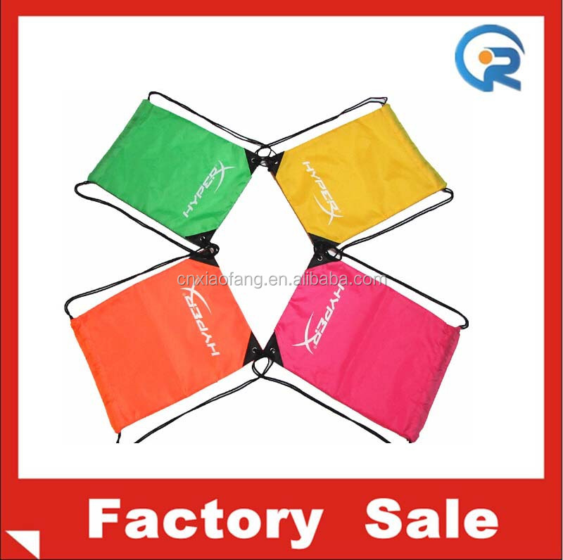 eco-friendly& custom logo 210D popular polyester drawstring women bag
