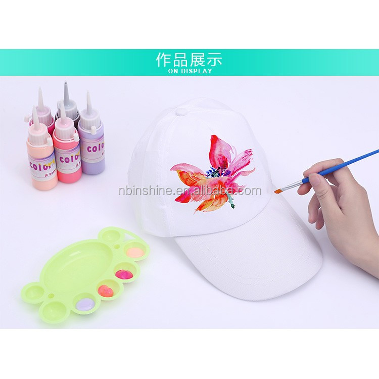 Hign qually children painting cartoon diy cap and hat