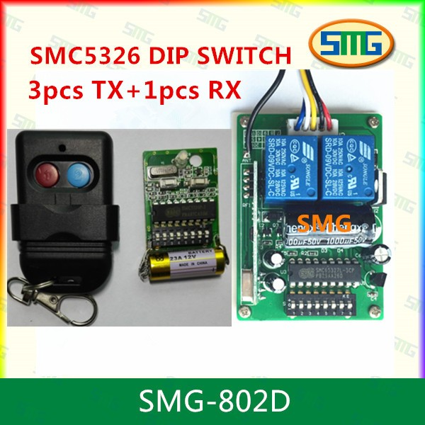 Smg 802d Smc5326p 3 Dip Switch Auto Gate Remote Control