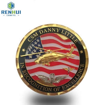 cheap custom 3D gold challenge coins silver gold plated custom metal stamping coins with printing logos on