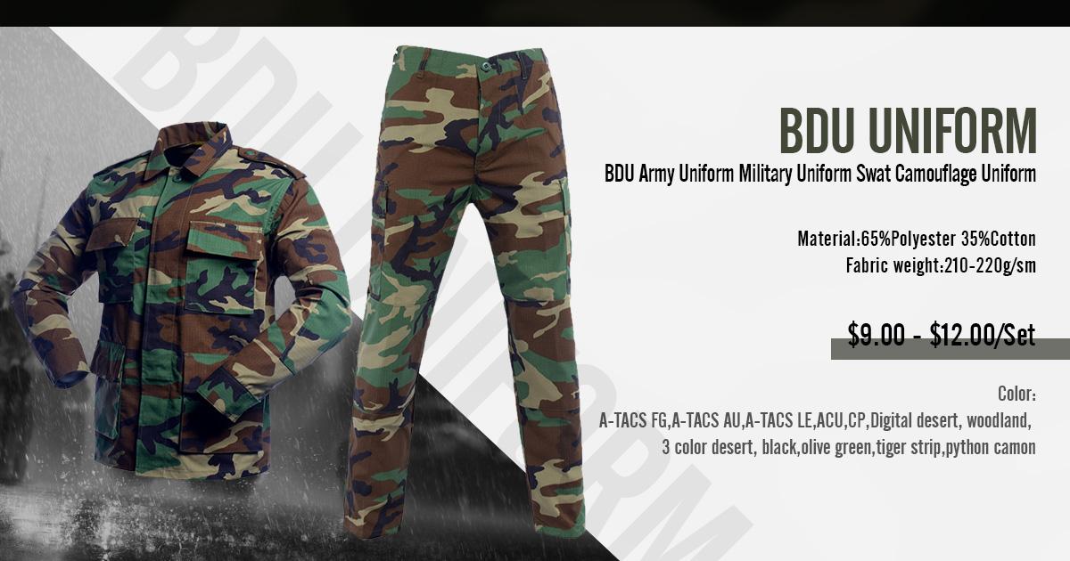 c871ec6ae217b Airsoft BDU Uniform Woodland Jungle Camouflage BDU Uniform