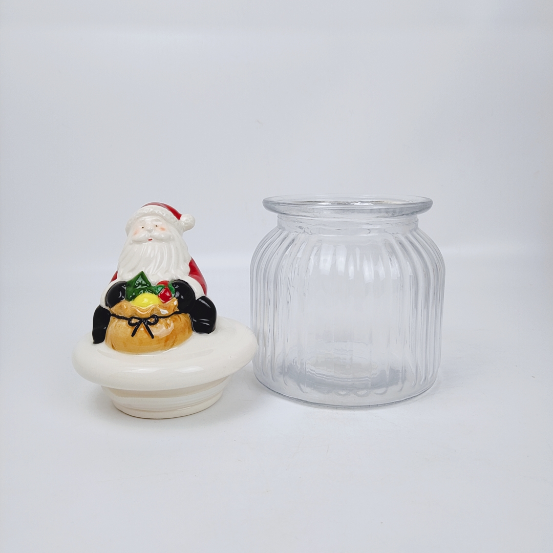Home Tableware Set Airtight Clear Food Glass Jar with Lid