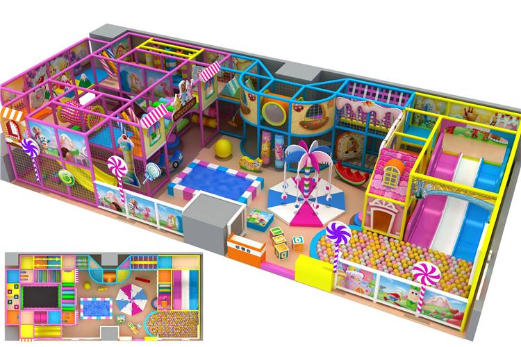 Candy Theme Customized Indoor Playground Playground Equipment