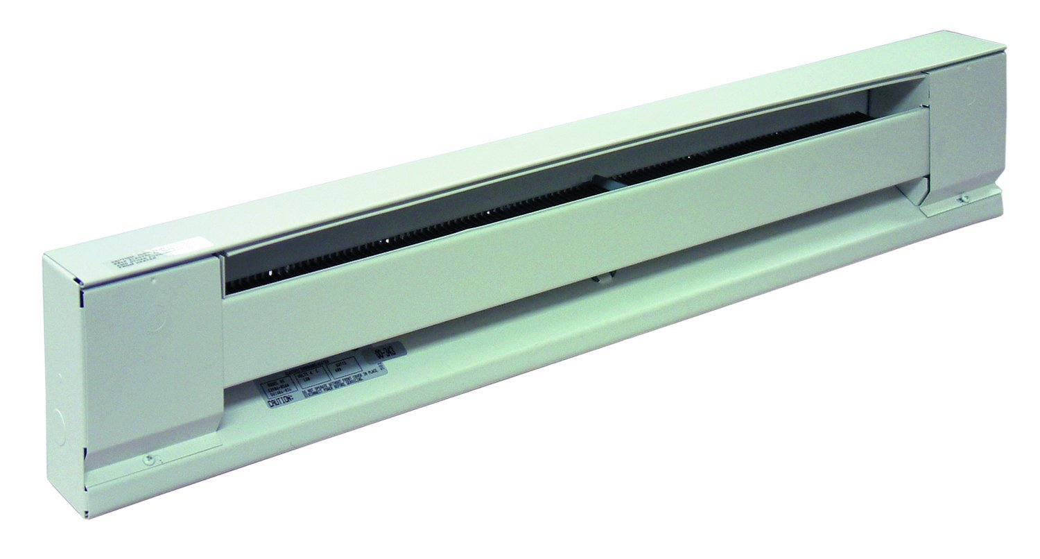 "TPI G2915072 HAW 2900HA Series Electric Baseboard - High Altitude Convection Heater, Single Phase, 72""L x 2-1/2""D x 6"" H, White"