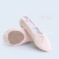 Genuine Leather Ballet Shoes Women Dance Slippers