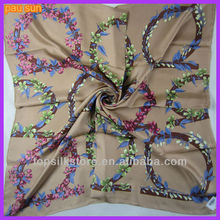 Square twill beauty silk scarf 90x90 brand