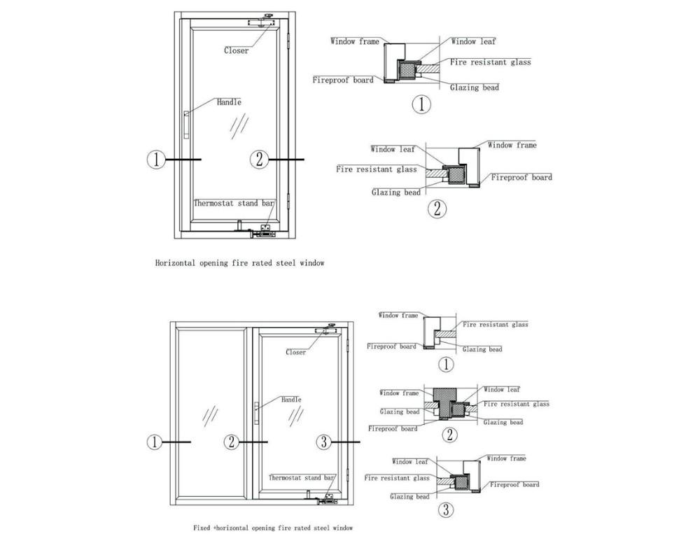product-Top Quality International Standard Steel Fireproof Window-Zhongtai-img-1