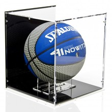 high level clear acrylic basketball led display case with black bottom for retail shop wholesale