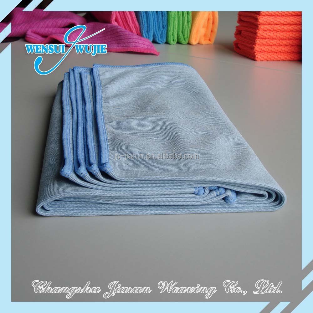 Promotioin towels window cleaning rags microfiber glass cloth manufacturer