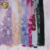 Fancy design multi color stoned net lace yard handwork embroidery fabric for dresses