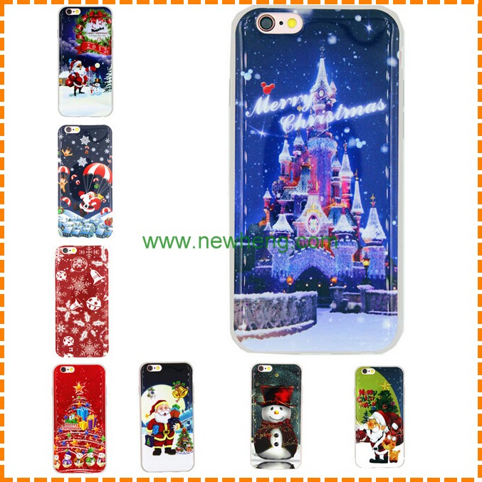 Christmas big discount customized hard pc phone case for iphone 7 plus