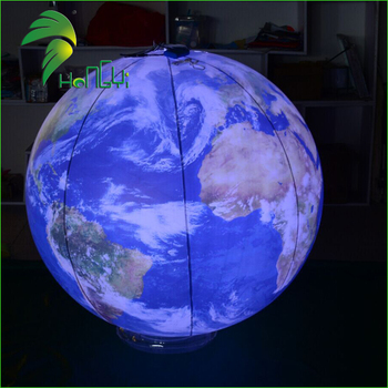 Satellite Map Air Earth Balloon Led Lighting Inflatable Helium Globe