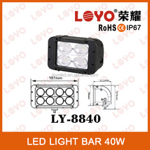 Promotion!!! 4.6'' Super Bright Double Row 4*10W LED Driving Light Bars, 40W Offroad LED Light Bar