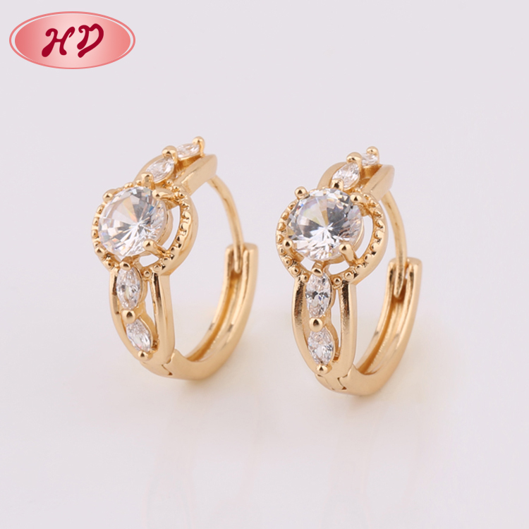 China Manufacturer 1 Gram Earring 18K Rose Gold Jewellery