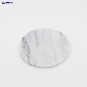 Wholesale low price custom made marble coaster with logo for tea cup and mobile phones