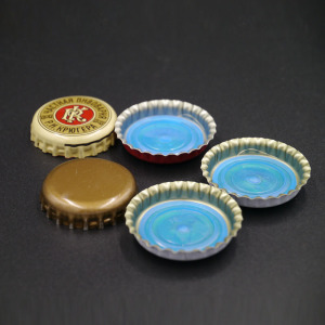 Wholesale cheap custom printed glass beer bottle crown caps