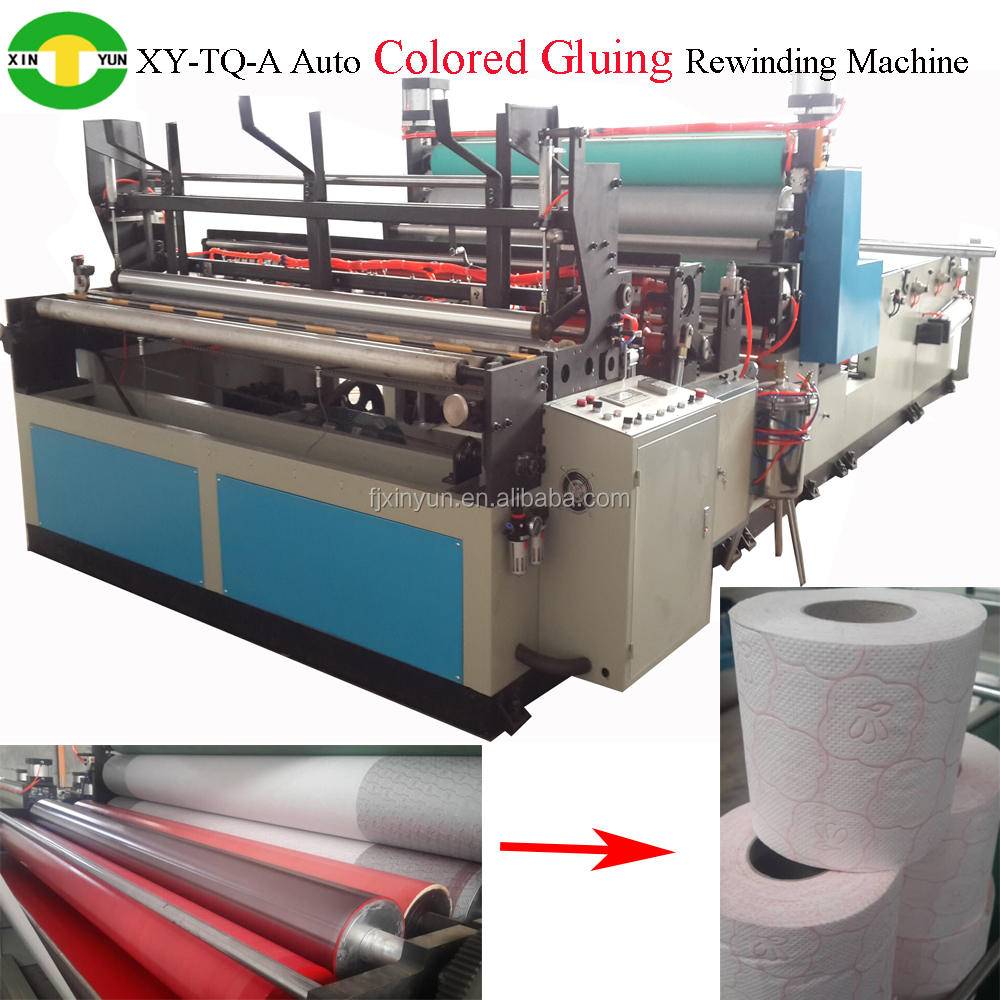 fully automatic colored toilet tissue gluing laminating machine paper making machine
