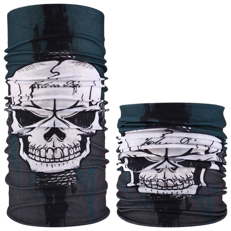 Fashion Dust skulls riding Motorcycle Helmet Neck Mask Pattern Face Mask Biker Of Duty Cos Costume Game <strong>Black</strong> <strong>Bandana</strong>