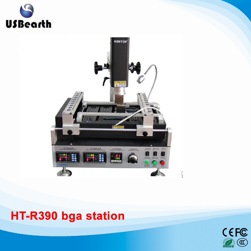 HT-R390 hot air bga rework station for laptop mother board repair, 3 temperature controlle