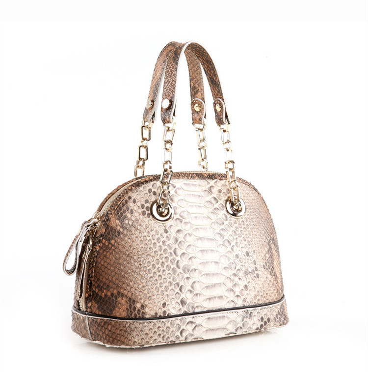 Popular Lady Genuine Python Snake Skin Handbag White
