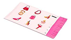 6x9 Pink Make Up Designer Poly Mailers Boutique Shipping Bags Gift Envelopes (100) by UpakNShip
