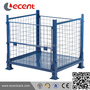 Metal wire mesh pallet cage