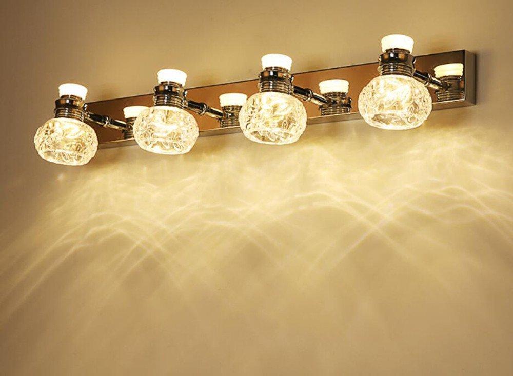 Simple Modern Mirror Lights Waterproof Toilet Washing Table Bathroom LED Lights,b,warm light