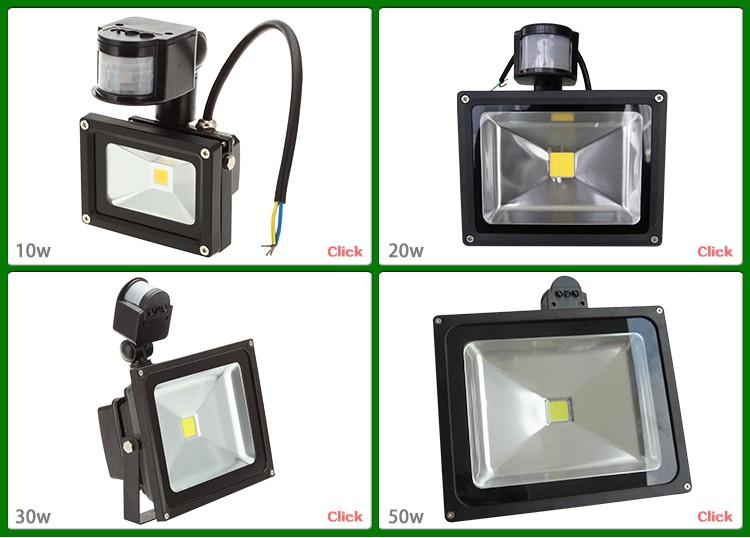 Energy Saving Recessed Flood Lamp10w 20w 30w 50w Motion Sensor Led ...