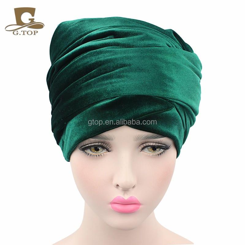 New luxury magie hijab Turban Kopfverpackung Extra Lange samt röhre ...