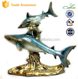 Resin marine souvenir ocean animal sharks sculpture