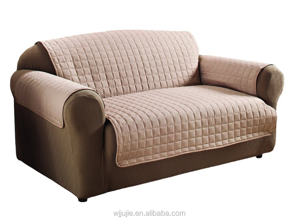 Good Quality Quilted Pattern Microfiber Sofa Furniture Protector