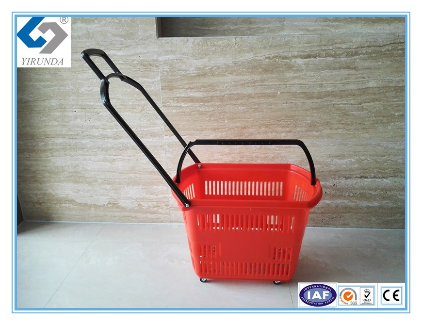 68L large size fruit shopping basket with one handle