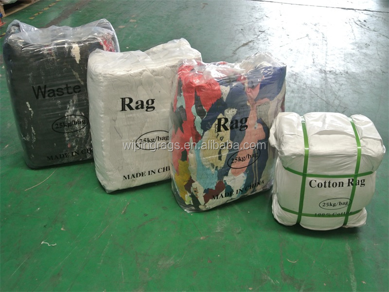 White T Shirt Cotton Cleaning Rags With 10kg Bag
