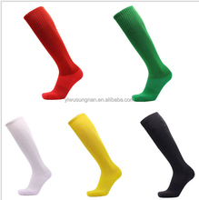 Hot sale cheap football custom polyester wholesale long soccer socks